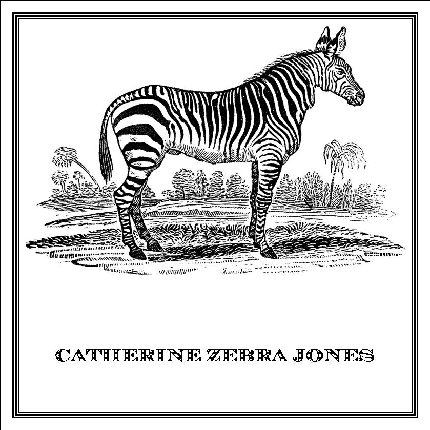 Zoomorphic' Greeting Card Catherine Zebra Jones