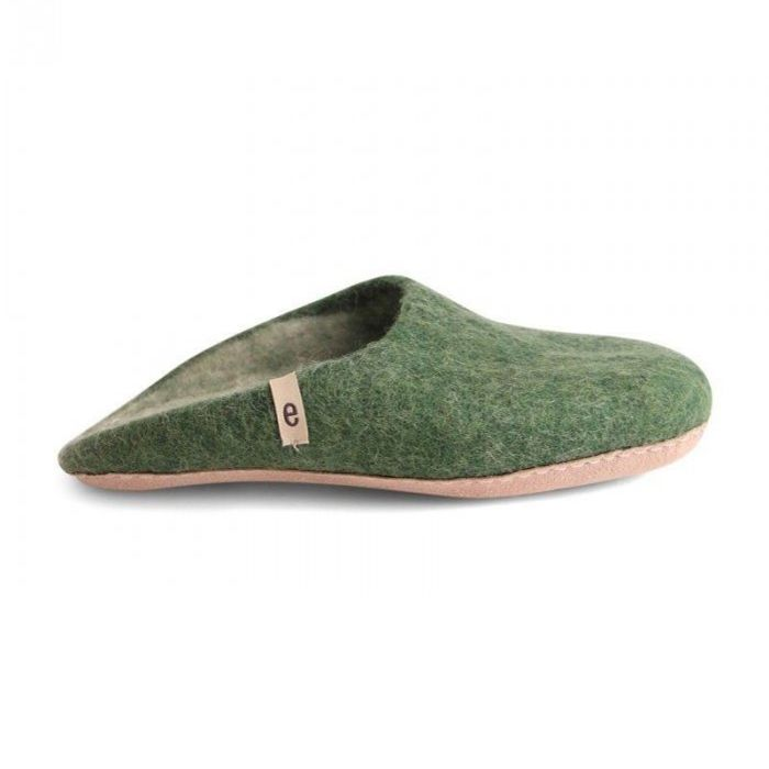 Mens 's Wool Slippers - Green